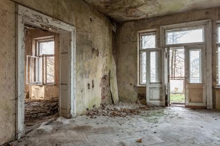 The building Masonic Lodge in ruins, Gdansk - Poland Banco de Imagens - 23560031