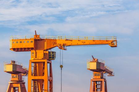 shiprepair: The shipyard and harbor cranes