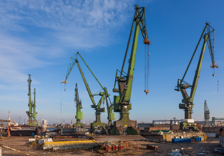 The historic Shipyard Gdansk - the birthplace of the Solidarity movement  photo