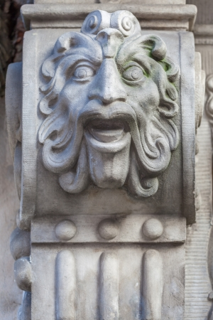 grotesque: Decorative detail in the old town in Gdansk