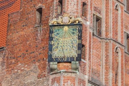 Sundial at the Gdansk City Hall - Poland photo