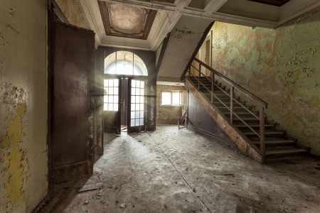 The building Masonic Lodge in ruins, Gdansk - Poland Banco de Imagens - 23814500