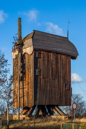 Historic windmill in the village Drewnica, Poland photo