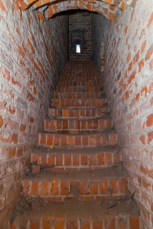 dungeons: Stairs to the tower of a medieval castle