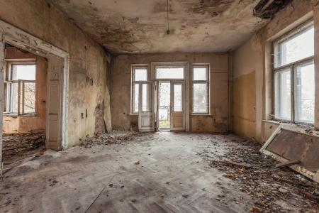 The building Masonic Lodge in ruins, Gdansk - Poland Banco de Imagens - 24425443