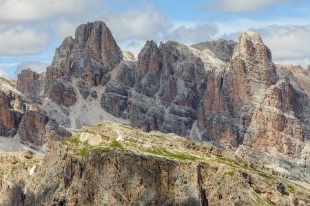dolomites: Famous Dolomites Mountain - Italy Stock Photo