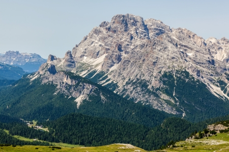 Beautiful view of the Dolomites in summer photo