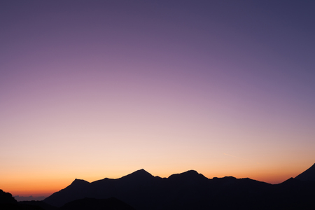 Romantic mountain landscape - the sunset photo
