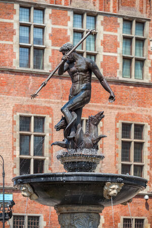 Famous Neptune fountain at Dlugi Targ square - Gdansk, Poland photo