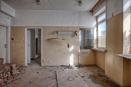 Interior of a ruined building photo