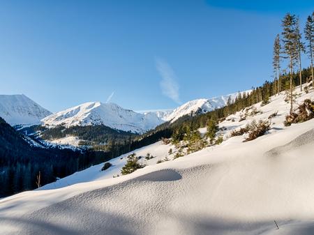 morskie: Fresh snow in the mountains Stock Photo