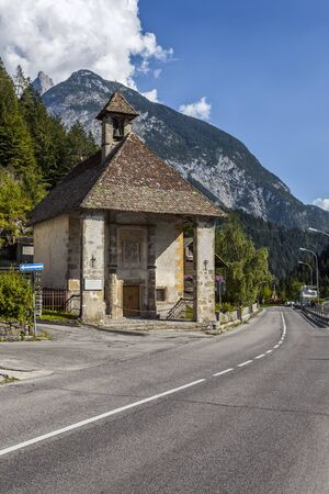 chapel: Chapel on the road in the Dolomites