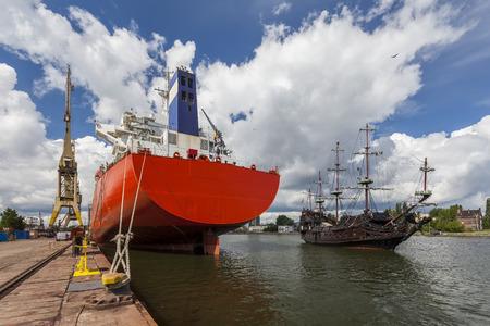 civilian: A civilian ship and the pirate ship