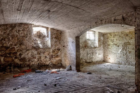 The terrifying basement in an abandoned house