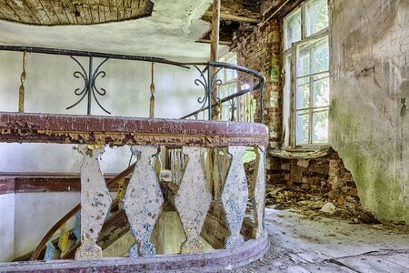 abandoned building: Interior of an old, abandoned building