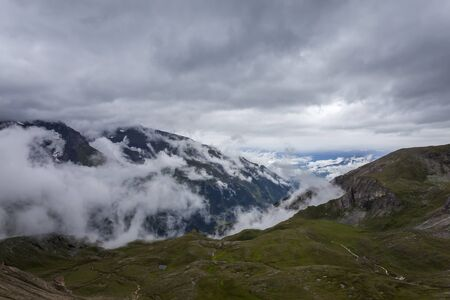hochalpenstrasse: View from one of the most beautiful alpine mountain roads