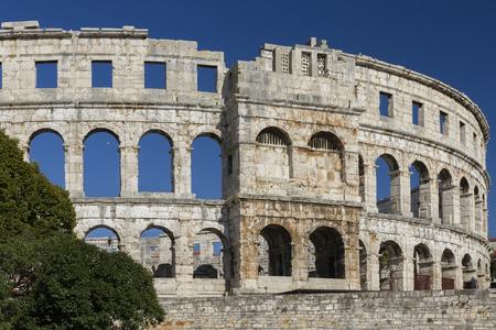 roman amphitheater: The ruins of a Roman amphitheater Stock Photo