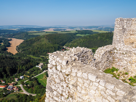 destructed: The ruins of the castle on the hill