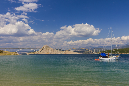 krk: The bridge to the island of Krk seen from the bay