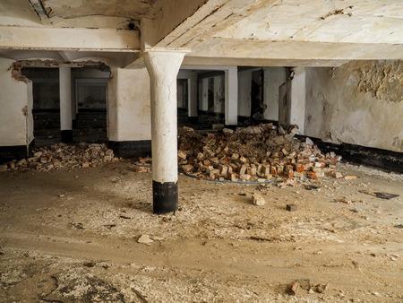 abandoned factory: Underground storage in abandoned factory