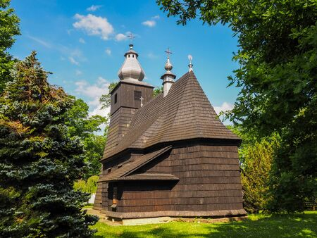 The old wooden Orthodox Church Stock Photo