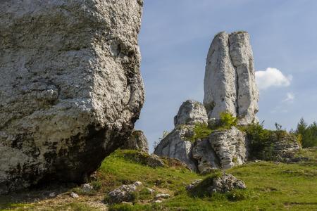 snění: Hilly landscape with Jurassic limestone rocks