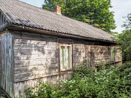 Forgotten house made of planks