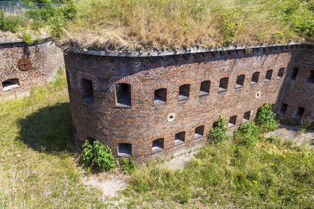 Prussian defensive fort from the 19th century Stock Photo