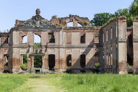 Ruins of the baroque palace in Kamieniec - Poland Banco de Imagens