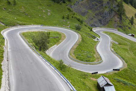 A winding, dangerous mountain road