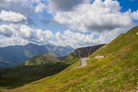 High Alpine Road. Way to Biker Point. Banco de Imagens