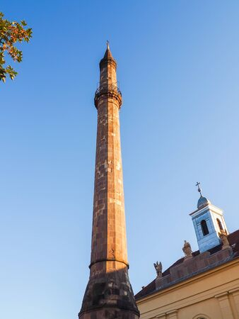Eger minaret is a popular attraction for tourist in Eger - Hungary
