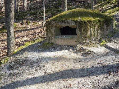 Bunker from World War II on Baltic Sea shore