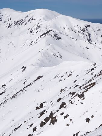 Snow in the  high mountains Banco de Imagens