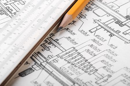 Drawing detail and drawing tools Stock Photo - 7217870