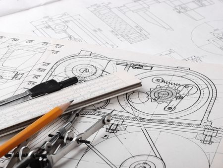 Drawing detail and drawing tools Stock Photo - 7217835