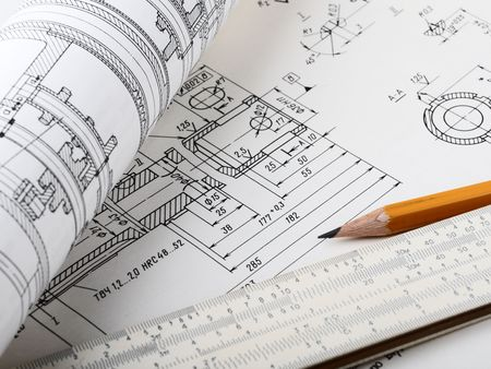 Drawing detail and drawing tools Stock Photo - 7217836