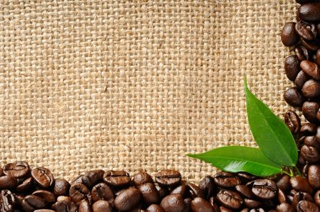 caffeine: coffee border Stock Photo