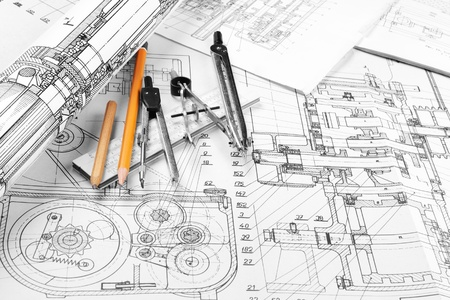 Drawing detail and drawing tools Stock Photo - 8786523
