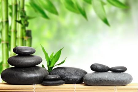 spa concept zen basalt stones Stock Photo - 8786545