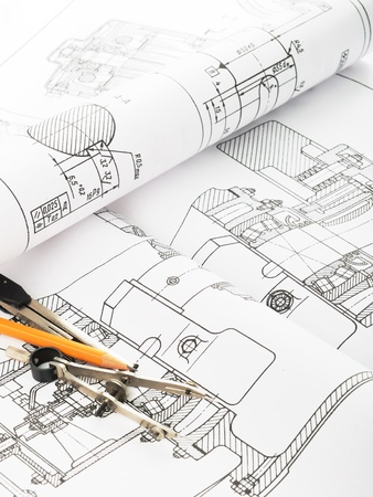 Drawing detail and drawing tools Stock Photo - 8786541
