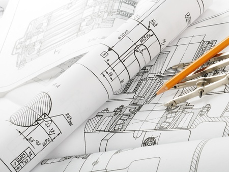 Drawing detail and drawing tools Stock Photo - 8786537