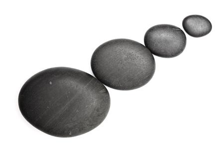 zen stones  isolated on white Stock Photo