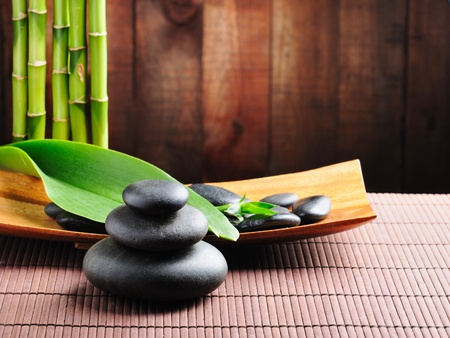spa rocks: spa concept zen basalt stones
