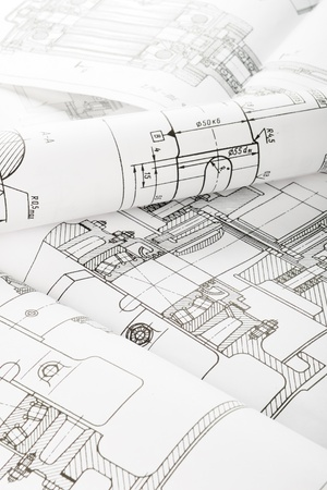 projecting: Drawing detail and drawing tools Stock Photo