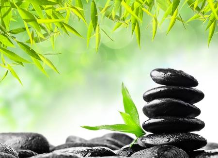 stack rock: spa concept zen basalt stones