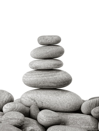 small stones: zen stones  on the white