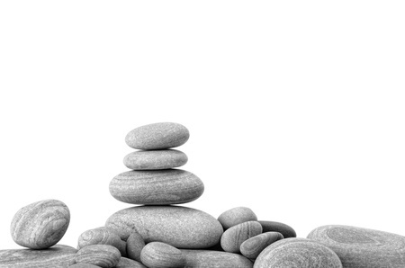 stack stone: zen stones  on the white