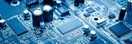 close-up van elektronische printplaat met processor