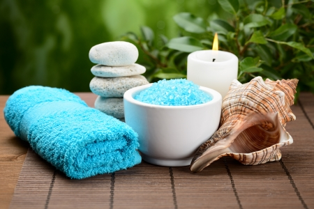 spa composition with soap and toning sea crystals Stock Photo - 15931034